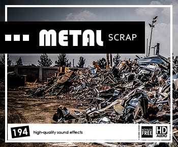 Scrap Metal Sound Effects - Royalty-free Scrap Metal SFX